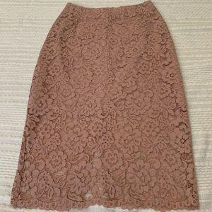 Petite lace skirt